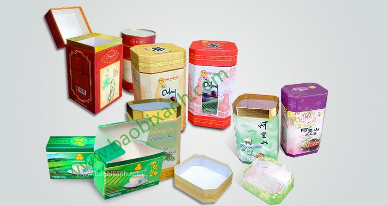 Hộp trà bát giác, in hộp trà, in hộp đựng trà