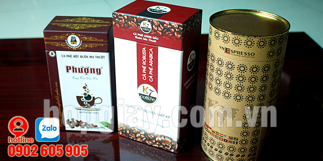 Sản xuất hộp giấy đựng cà phê